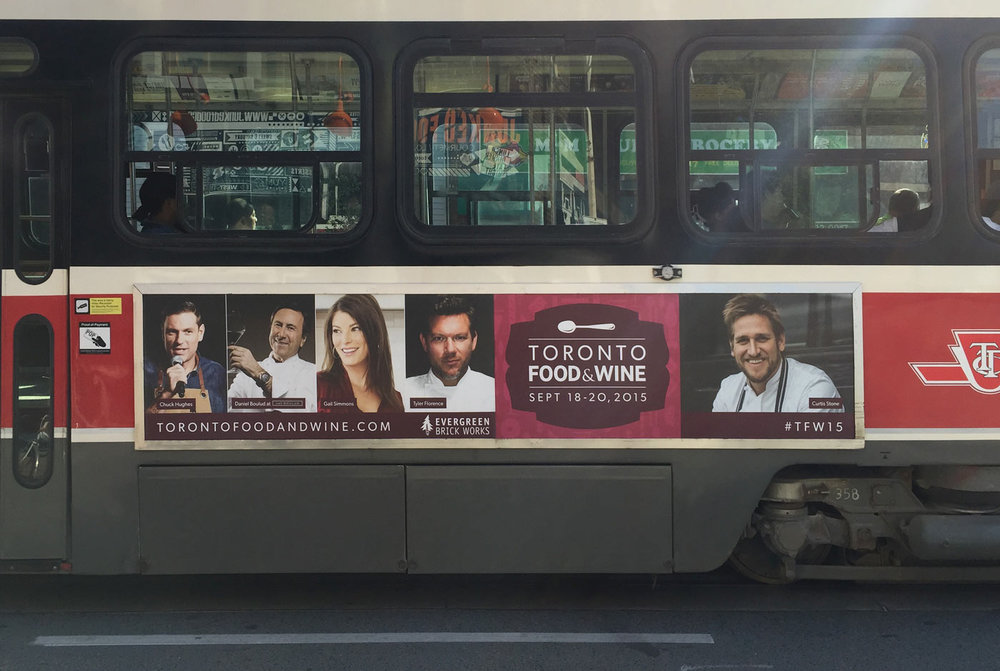 Toronto Food & Wine Show Transit Advertising