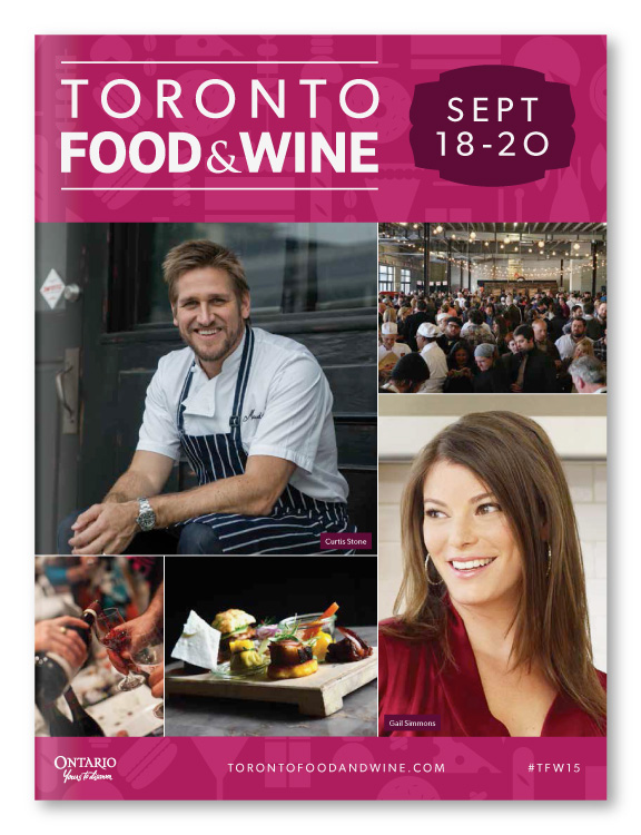 Toronto Food & Wine Show Showguide Design