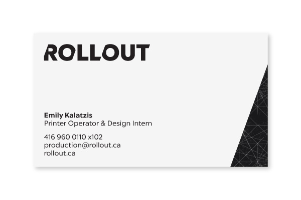 Rollout Business Card Design
