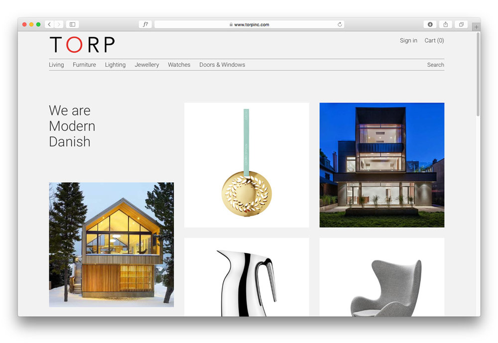 Torp / Website Design