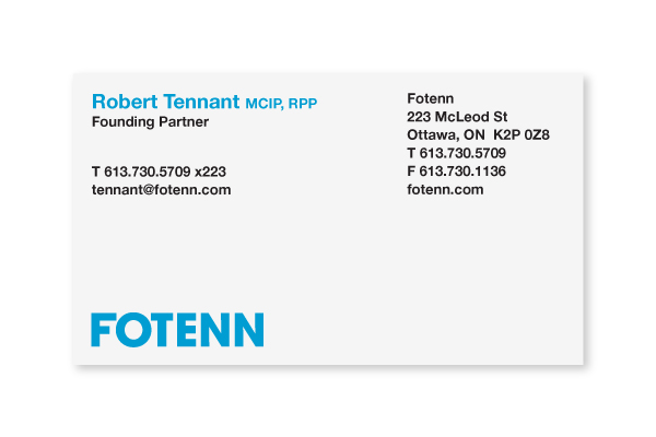 Fotenn / Business Card Design
