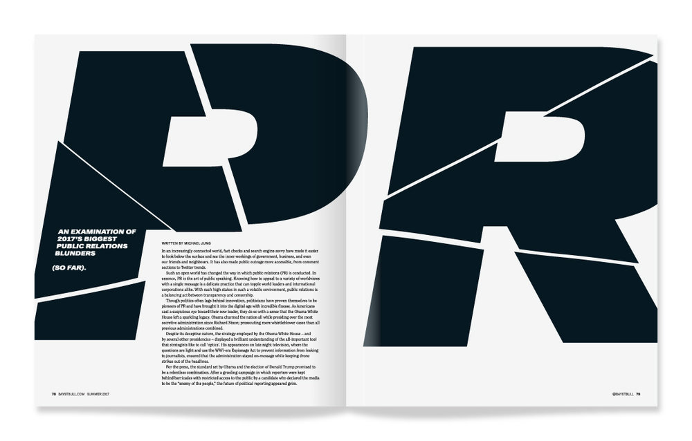 Bay Street Bull Magazine / Editorial Design / Art Direction