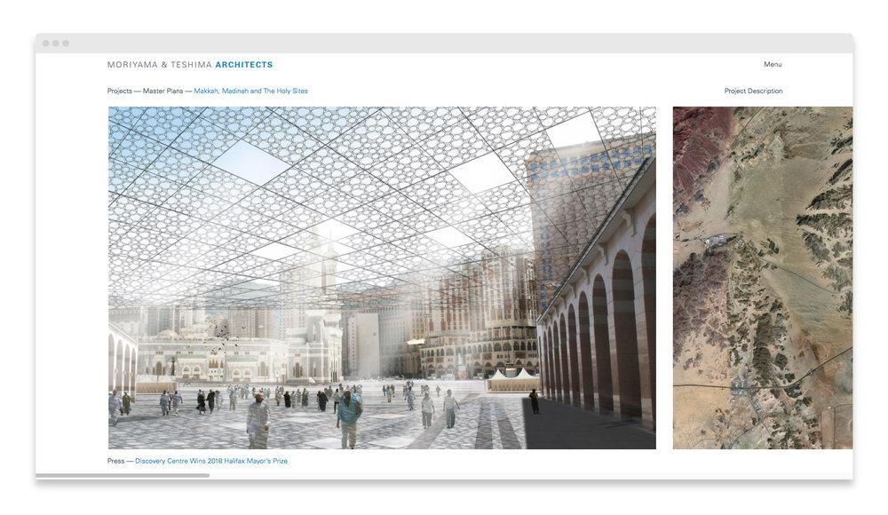 Moriyama & Teshima Architects / Website Design