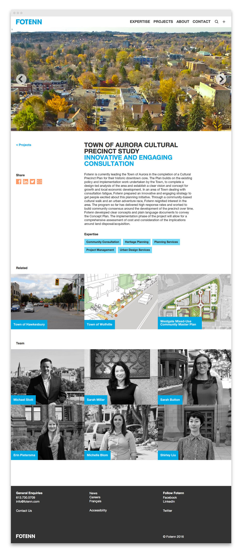 Fotenn / website design