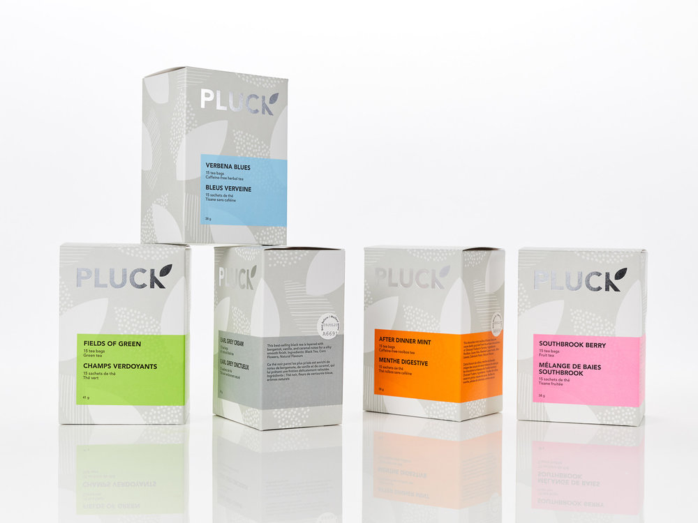 Branding and Design for Pluck Tea