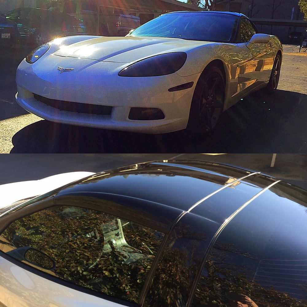 Corvette lights and roof wrap