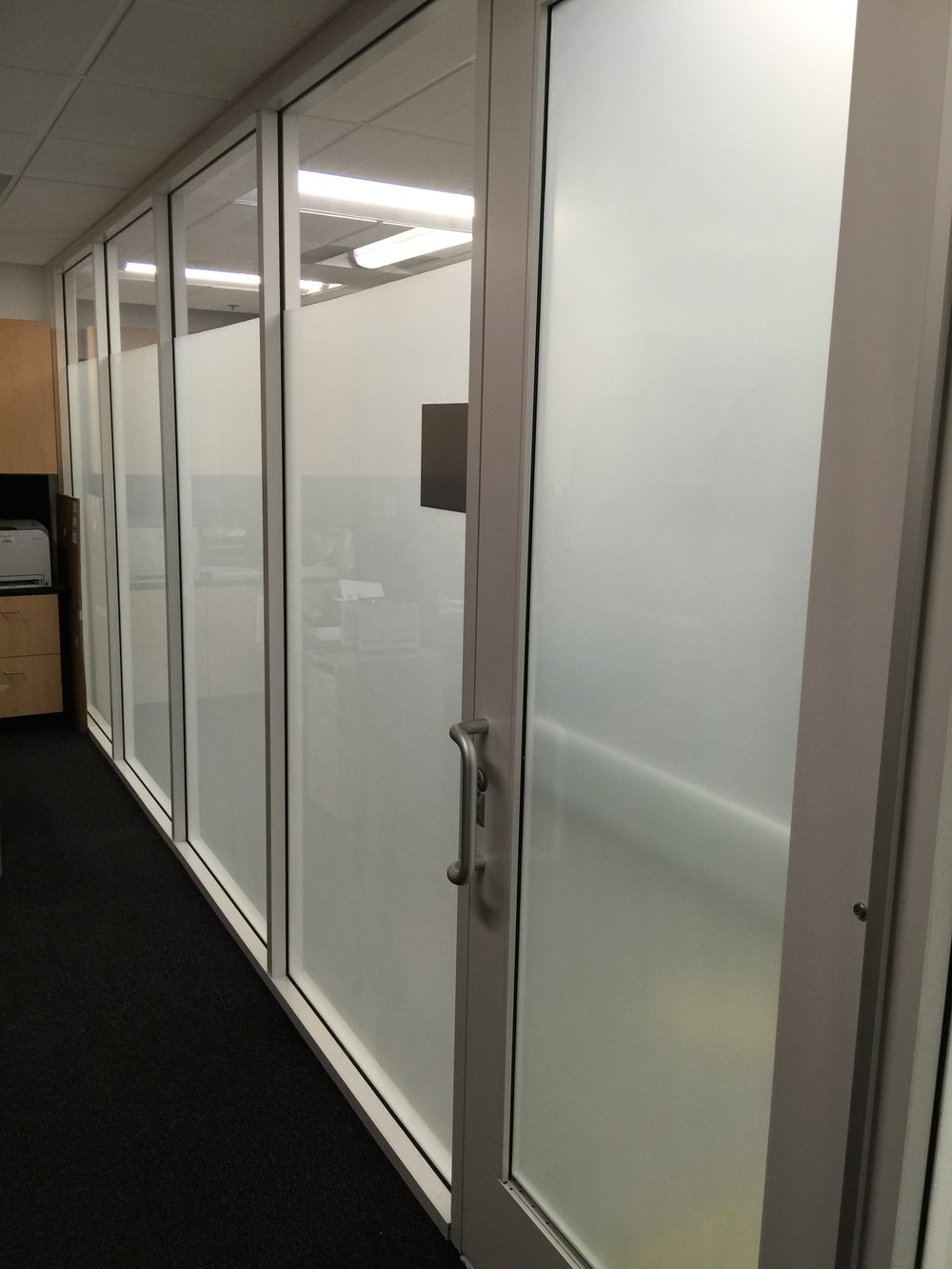 White frost privacy film