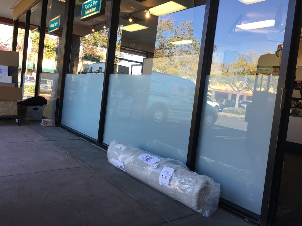 UPS Store (white frost privacy film)