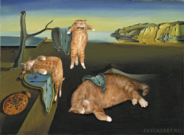 Salvador Dali Cats Clocks