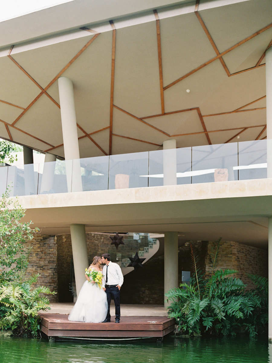 Lane Dittoe , Crosby + Jon,  Krista Jon ,Rosewood Mayakoba , RMINE, Styling Trio ,Archive Rentals  Maya Riviera Wedding, Style Me Pretty, Blue Wedding Dress