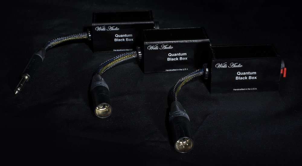 "1/4"" to 1/4"", 4 pin to 4 pin, 1/4"" to 4 pin Quantum Black Boxes"