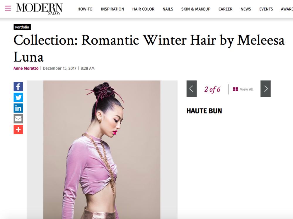 Modern Salon features Winter