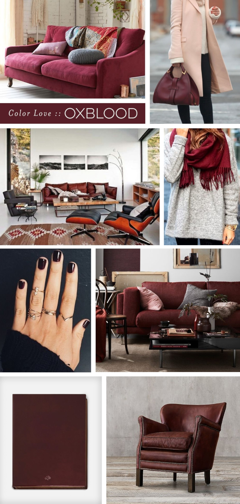 Oxblood Moodboard | all images via Pinterest