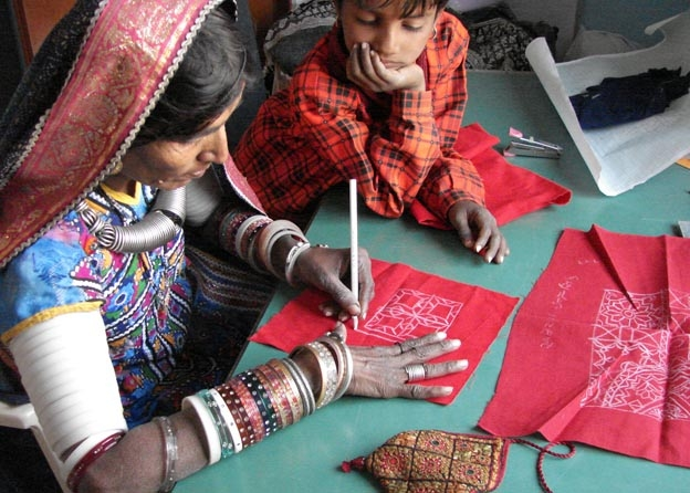 Embroidery artists in western India