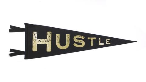 Hustle pennant from  Oxford Pennant
