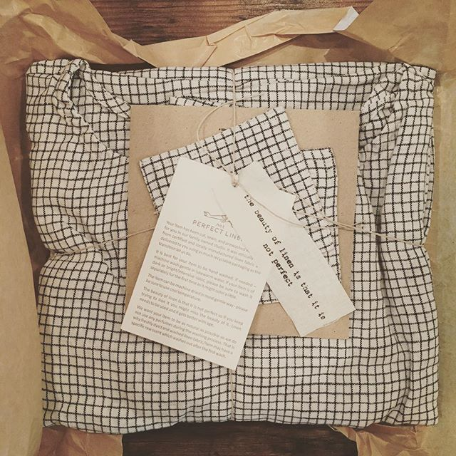 How lovely is this packaging from @notperfectlinen? The cocoon linen dress is amazing as well. 😍