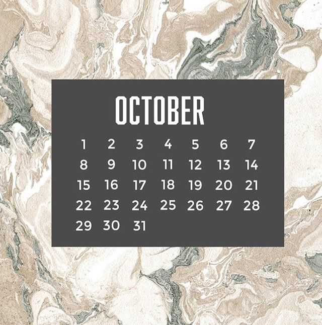 October digital calendars now on the blog!