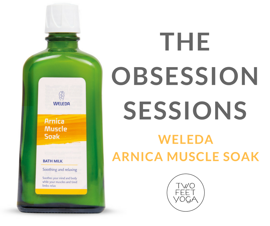 the obsession sessions - weleda: arnica muscle soak