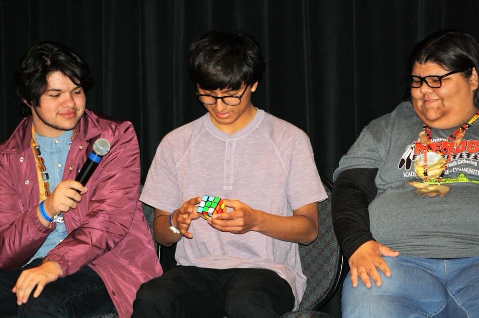 Panelist at the Native NERDS 5th Annual Youth Conference. Photo cred Native NERDS