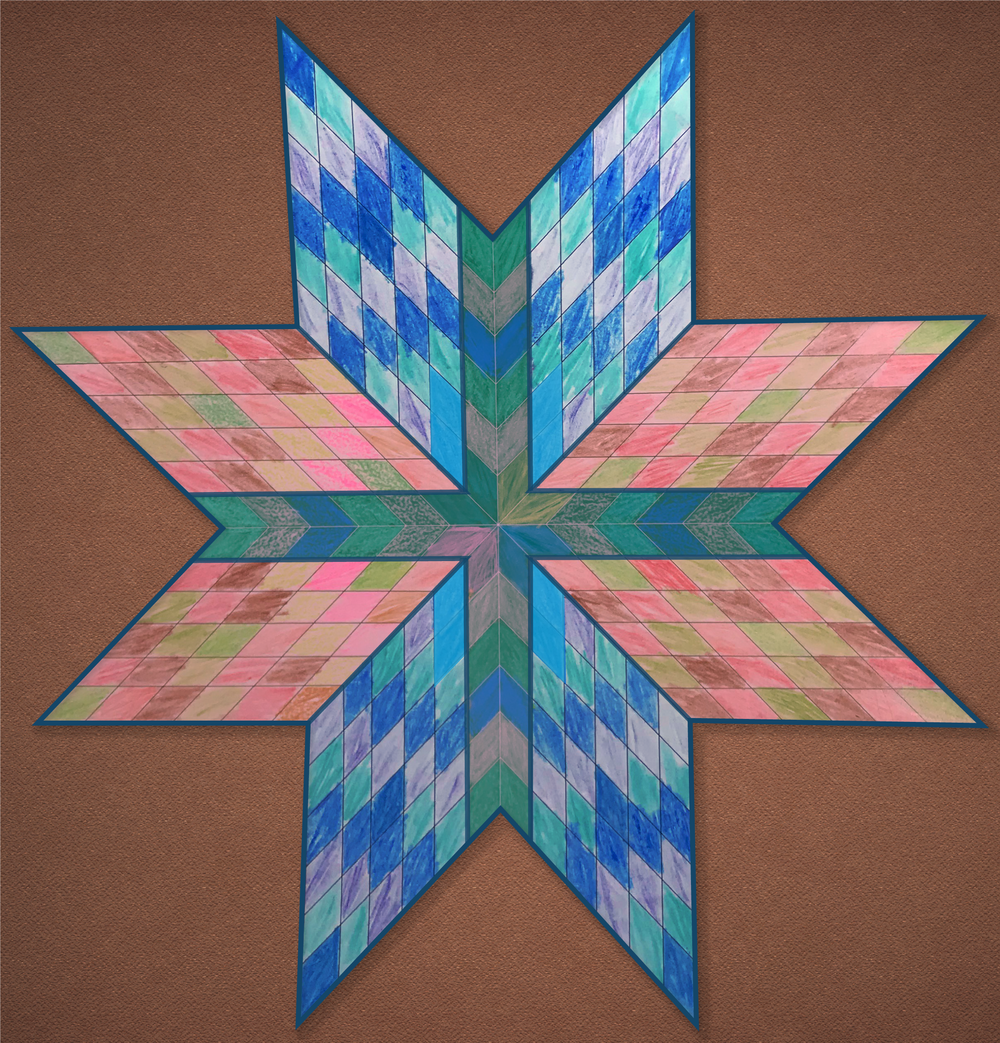 Native American Star Quilt by David