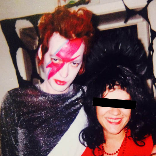 Bowie on a budget, Halloween 2003. The man meant a lot to me.