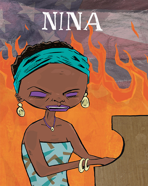 Cover for a children's book biography of Nina Simone
