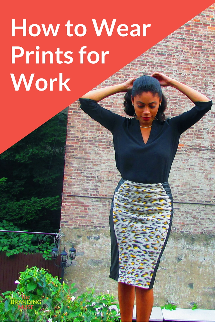how to wear prints for work