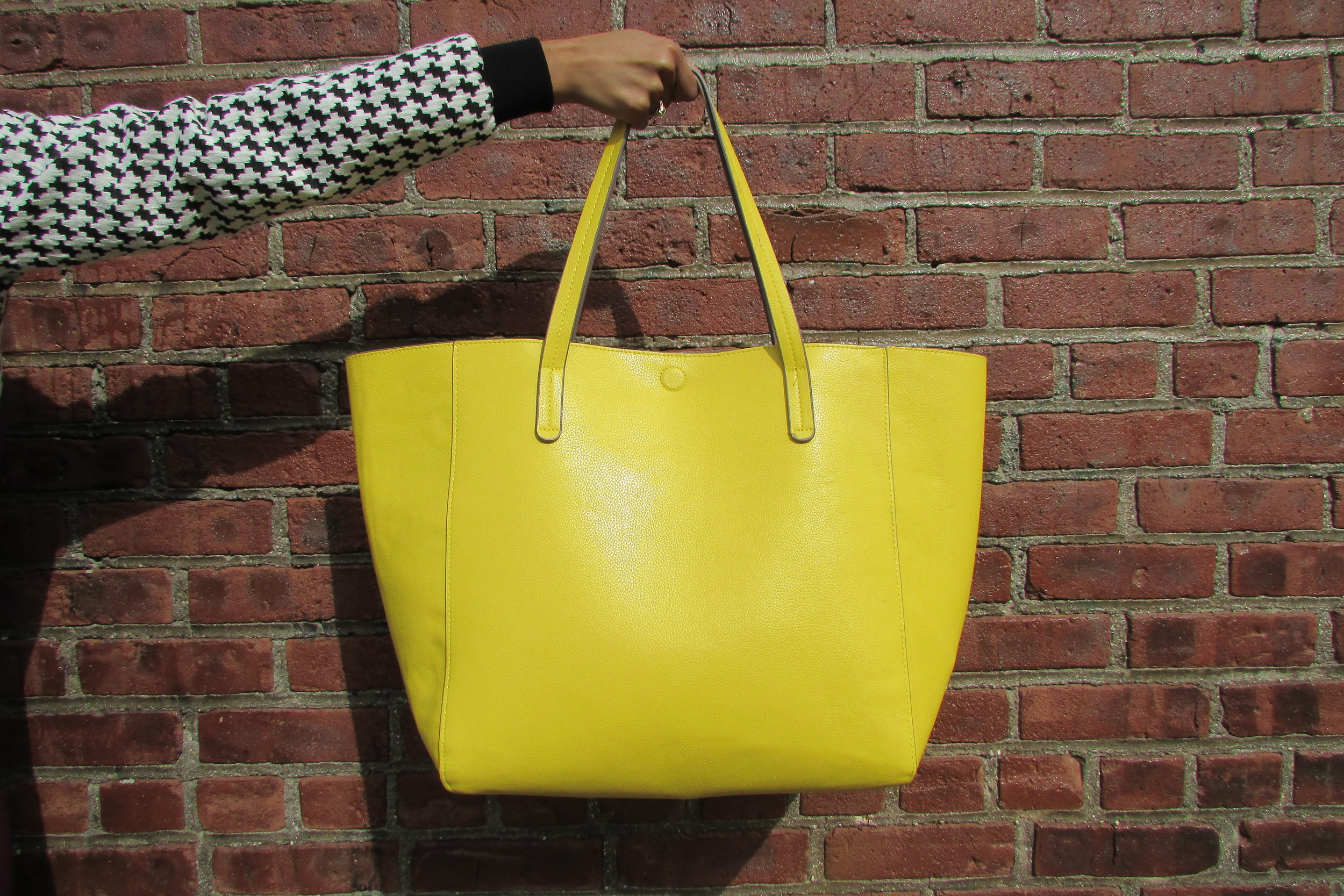 Oversized Yellow Tote