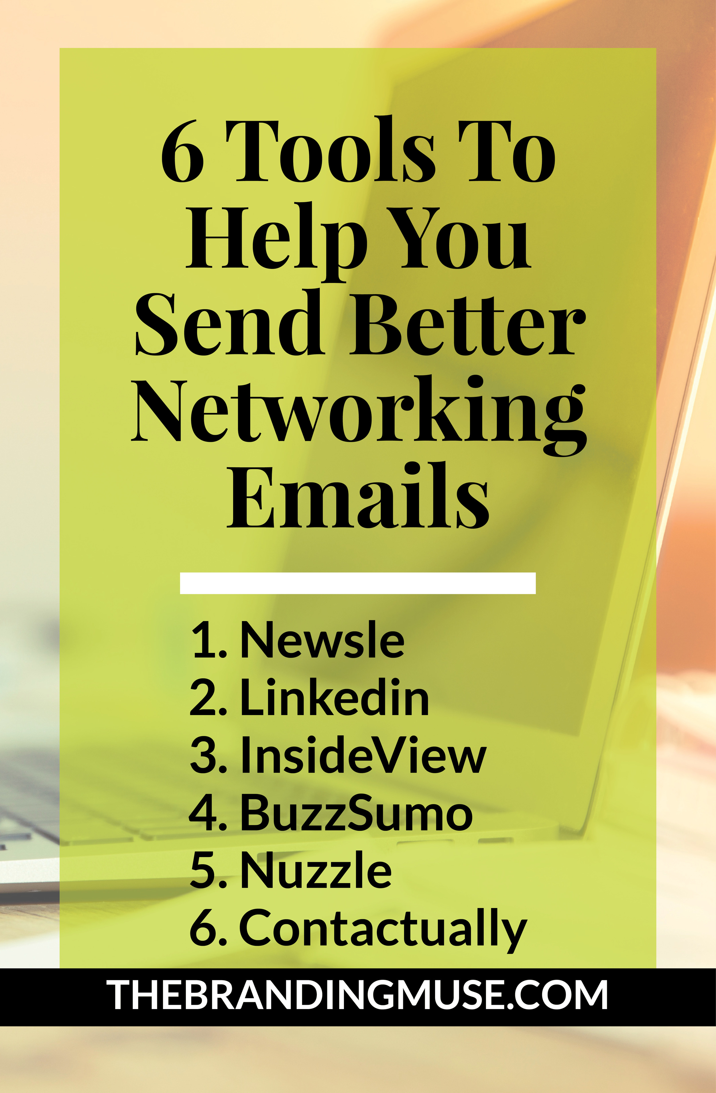 Use these tools to send better networking emails when you are job searching or even in sales. From job interview followup emails to following up after an event, these tools can help you master connections and networking.