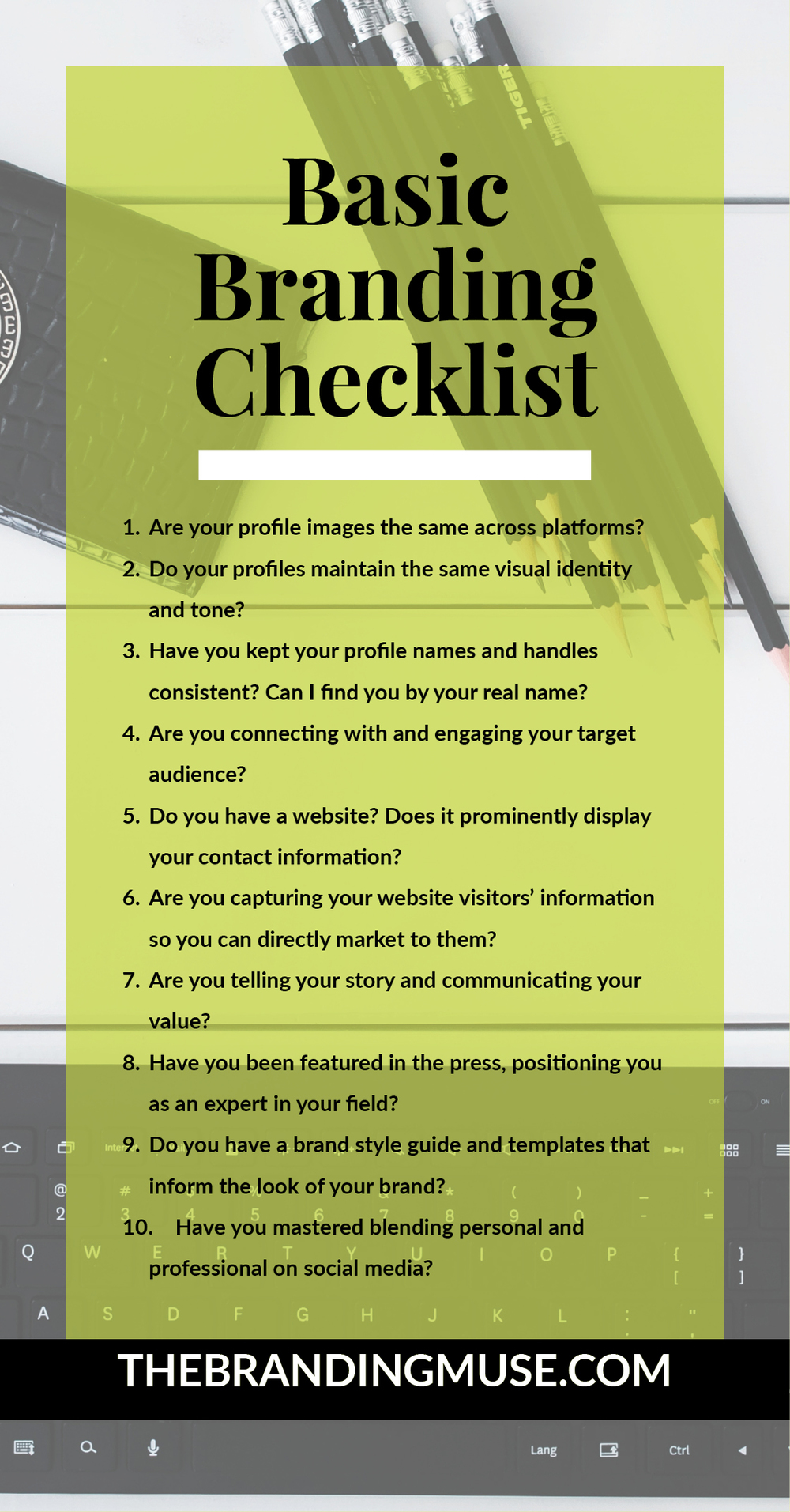 Basic Personal Branding Checklist