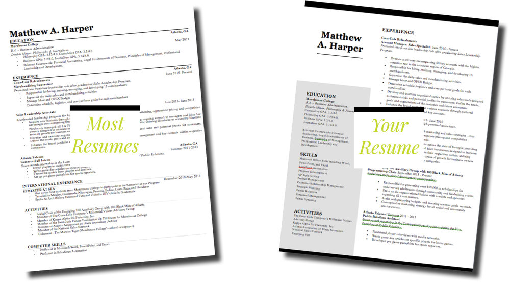 how to improve your resume design