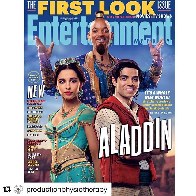#Repost @productionphysiotherapy (@get_repost) ・・・ Continuing our support of @Disney productions led us to providing physio services to this exciting project. The live action reboot of Aladdin comes out in 2019. CANNOT WAIT!