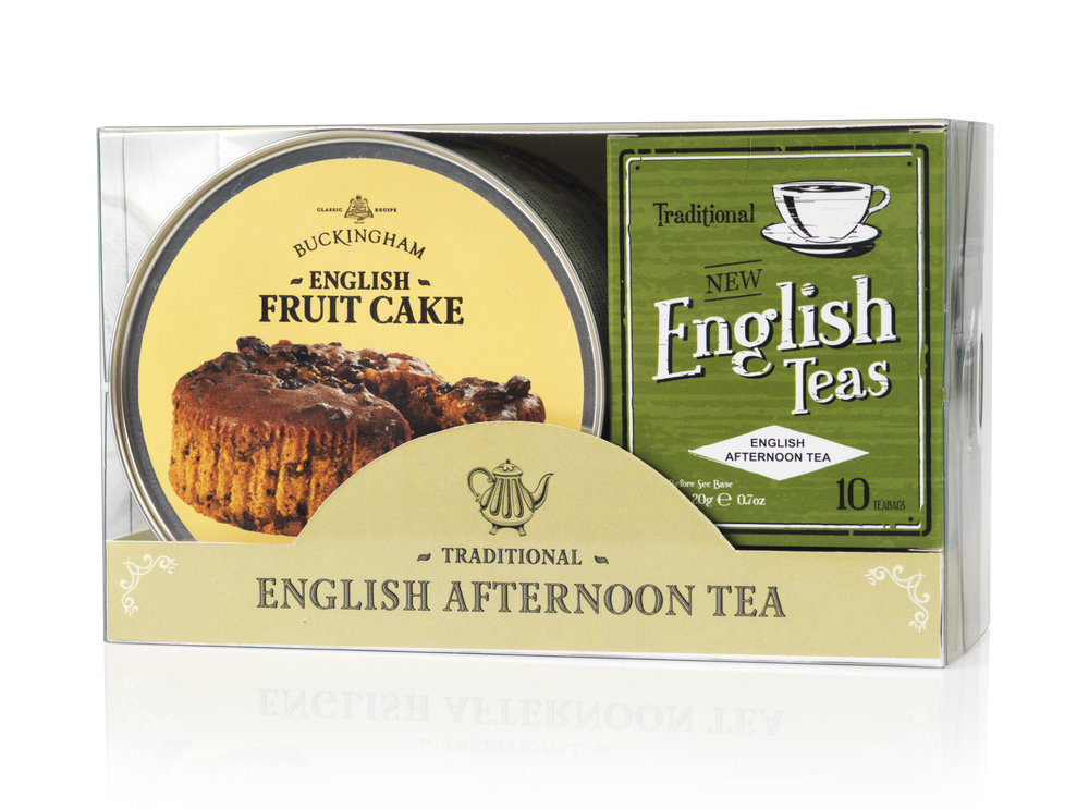 December 2017 - We have been working with New English Teas (see their website here) to develop a gift pack of tea and cake. The beautifully packaged combination will make it possible for food lovers all over the world to enjoy fruit cake and tea - the authentic experience of traditional 'English Afternoon Tea'. We expect to launch the new pack in February 2018.