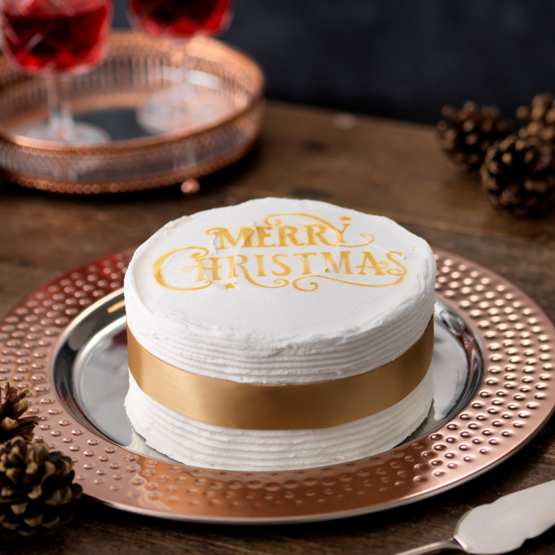 November 2018 - Our fruit cake provides the basis for traditional 'Christmas Cake' with the addition of a coating of marzipan, topped off with a layer of finest royal icing. The centrepiece for a Christmas celebration. Handmade perfection, and absolutely delicious!