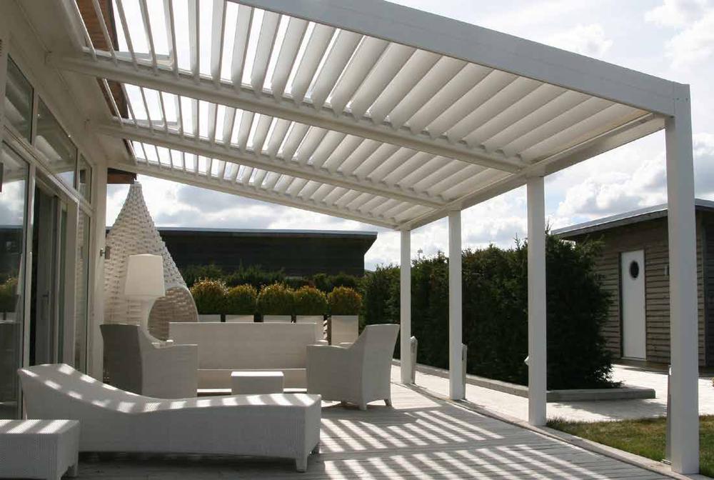 Pérgola aluminio branca-pergula-pergola-terraço-varanda-jardim-estruturas varandas-telheiros