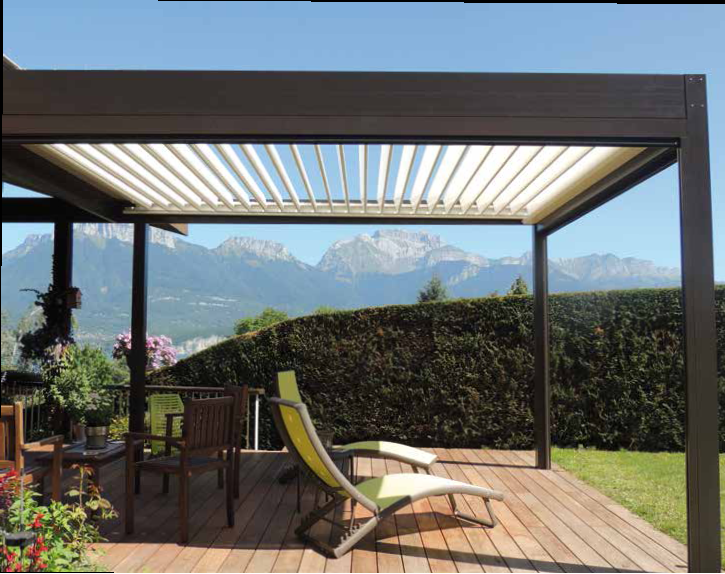 Pérgola alumínio preta-pergula-pergola-estruturas madeira-jardins-terraços-varandas-telheiros
