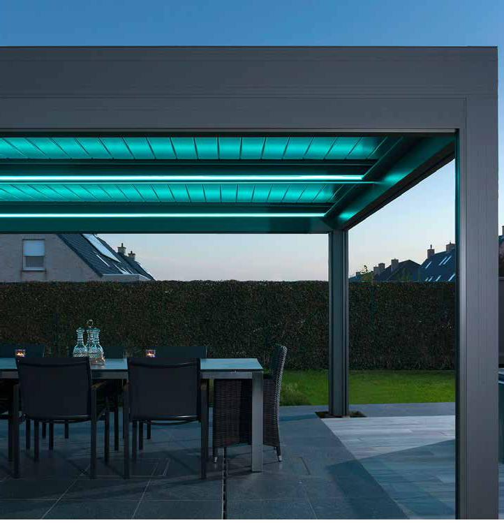 Pérgola leds azul-pergula-pergola-jardins-terraços-estruturas varandas-leds