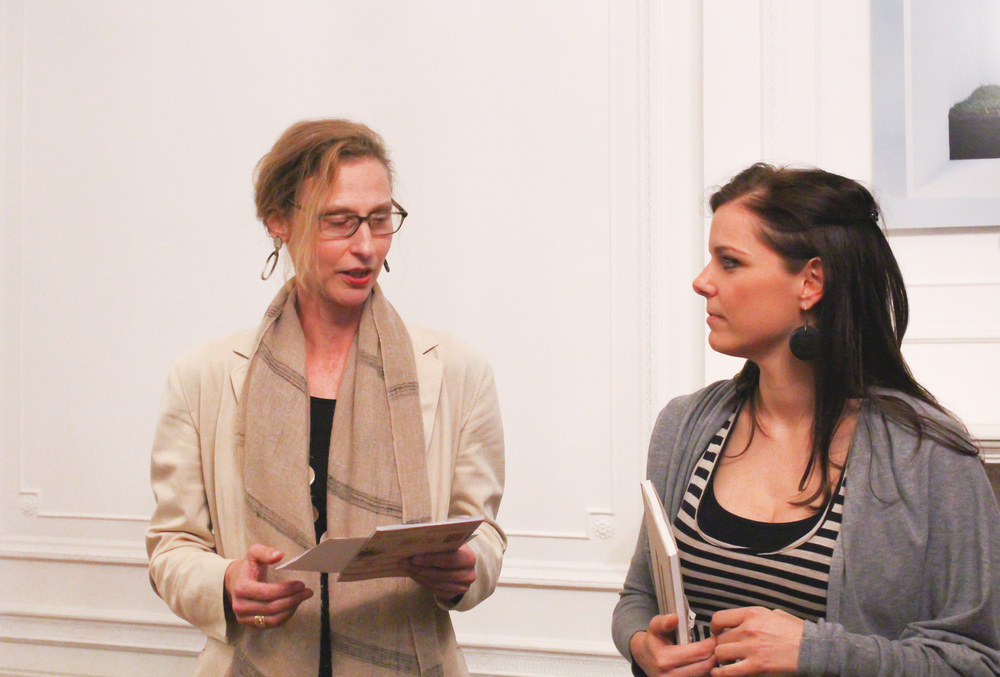 Elisabeth Kögler, director Austrian Cultural Forum and Catharina Bond curator