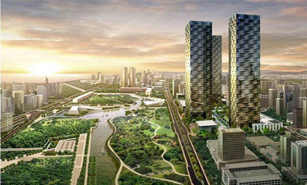Marketing image. New Songdo, South Korea.