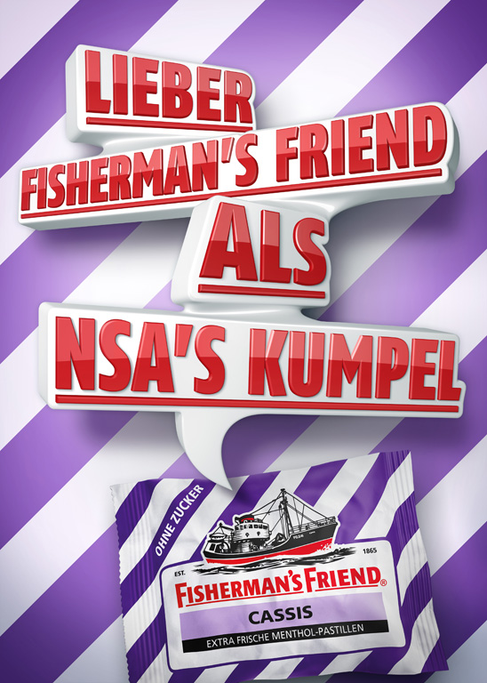 Better a fisherman's friend than the NSA's brother.