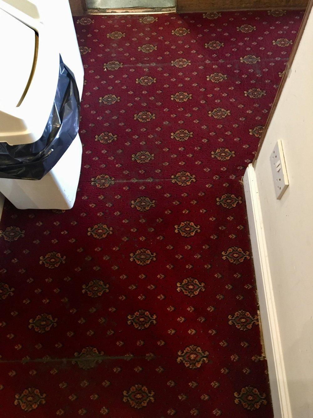 After cleaning pub carpet 'blacktop'
