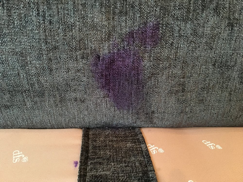 Ink stain on upholstery