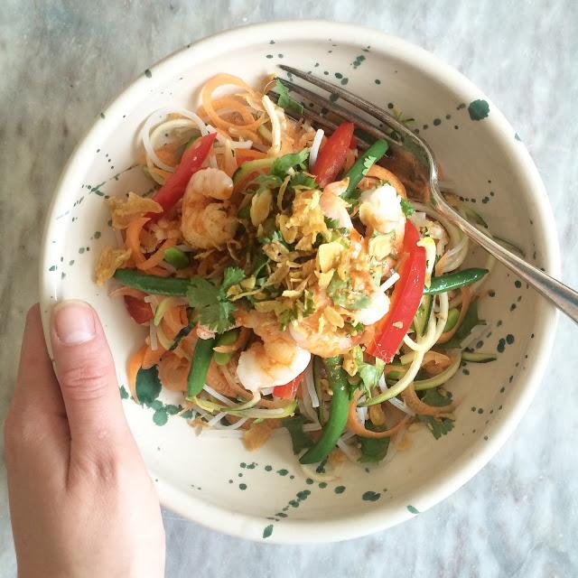 Raw Veggie Pad Thai Noodles recipe