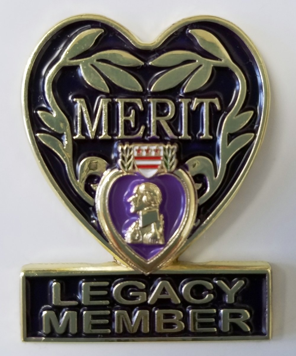 In recognition of your monthly commitment of $ 19.32, please accept this Exclusive LEGACY MEMBER Pin as our grateful
