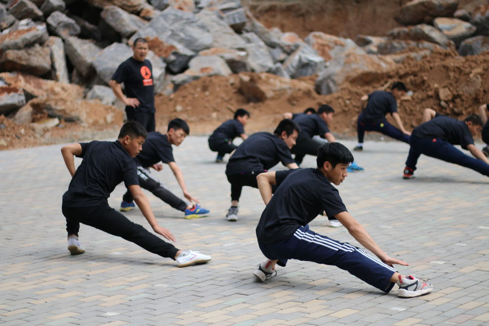 shaolin temple China  group trainning
