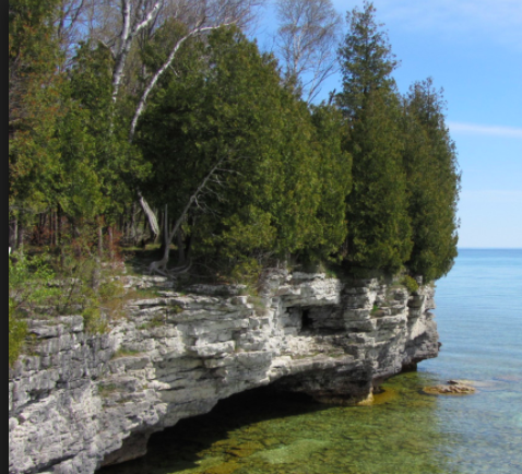 - One of the many beautiful places along the coast of Door County