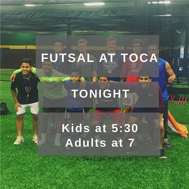 It looks like rain outside so come inside to get your #soccerpractice in and play #futsal.