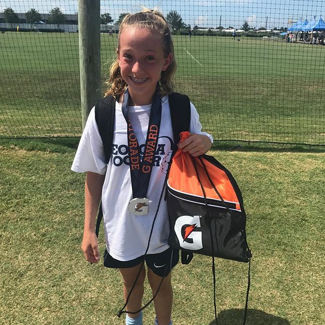 Huge shout out to Reese! She is one of our top players and while at @imgacademy she was named Player of the Week! What a well-deserved honor! #proudmom #firsttouchiseverything #soccerlife #soccerpractice