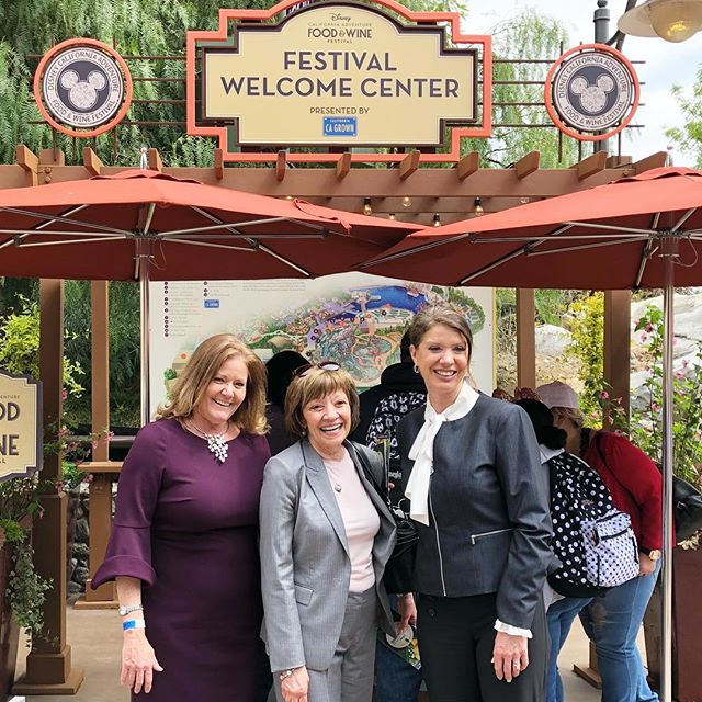 Full circle moment! I remember going to Disneyland for a Future Business Leaders of America conference when I was in High School (yes I was that cool) fast forward to last week and I'm touring Disney California Adventure Park's Food and Wine Festival featuring client CA GROWN with leaders from agriculture, tourism, and wine industries. Pictured are three amazing women who are true CA treasures and leaders (L-R) Cher Watte, executive director of the California Asparagus Commission and board member for CA GROWN, Karen Ross, Director of Agriculture for the California Department of Food an Agriculture and Caroline Beteta, president and CEO of Visit California. These women are constant, tireless advocates for our state and tremendous examples of what a great leader looks like. It was a wonderful day and I'm so grateful I was able to be a part of it. -Adrienne