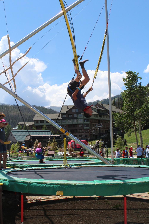 bungee trampoline winter park adventure colorado